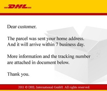 Malware attack on DHL shipping company
