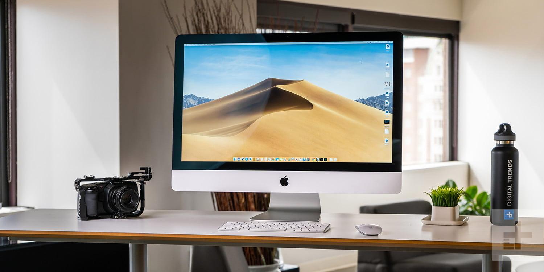 imac desktop computer setup