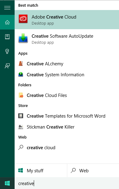 cortana capabilities, adobe creative cloud, creative software