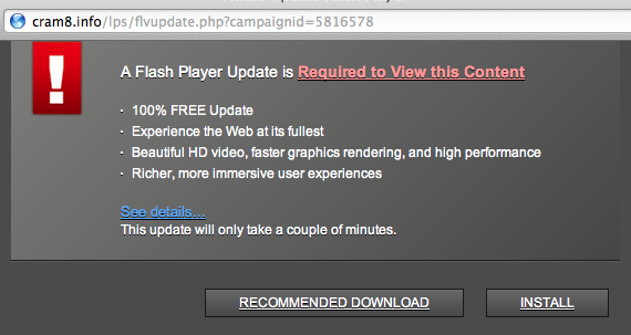adobe flashplayer required to view content