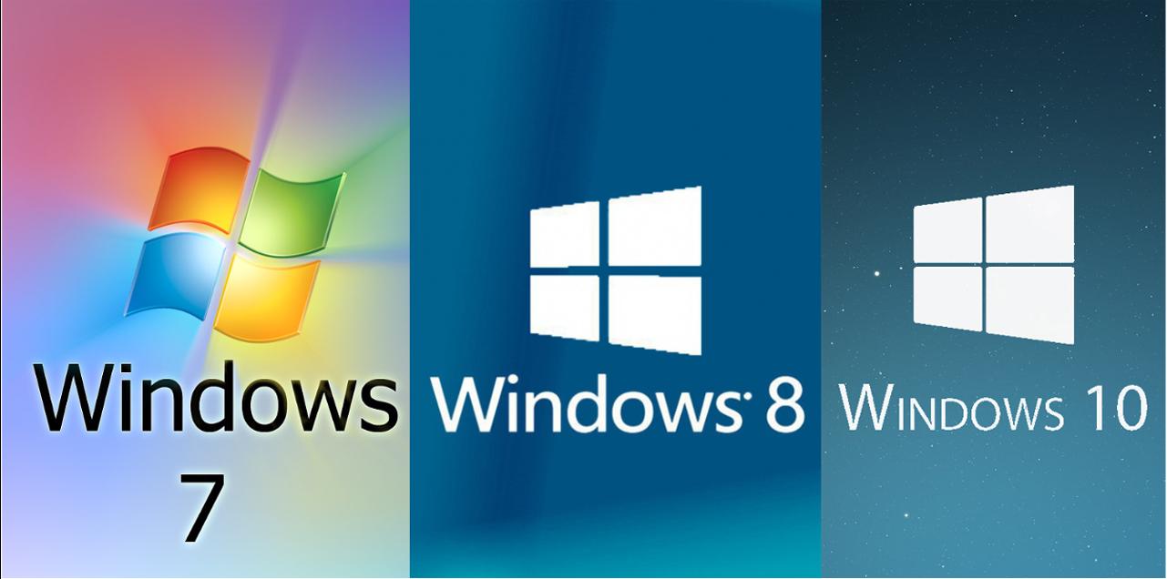 windows 7, windows 8, windows 10