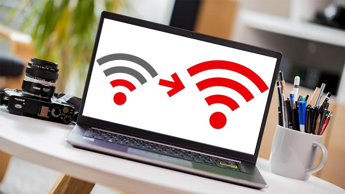 wifi on laptop computer