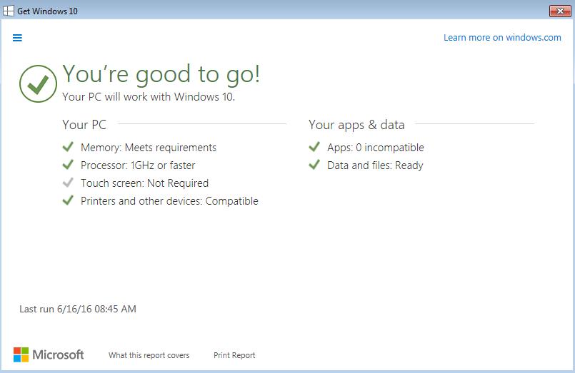 windows 10 confirmation screen