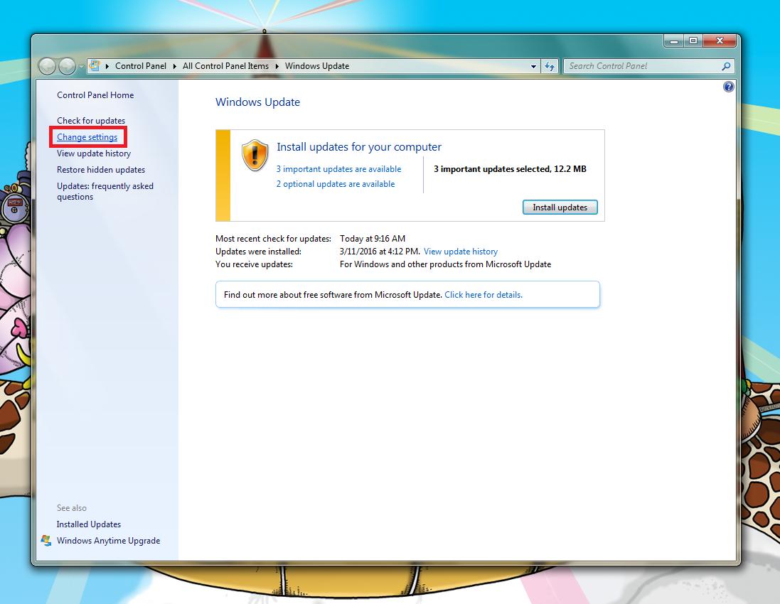 windows 10 update installation screen