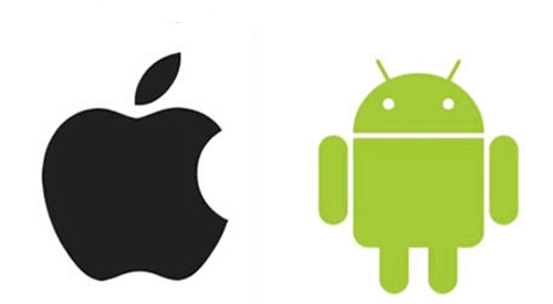 apple and android logos for backing up your smartphone