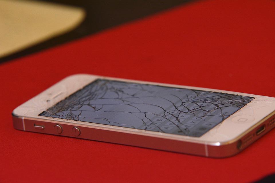 cracked smartphone