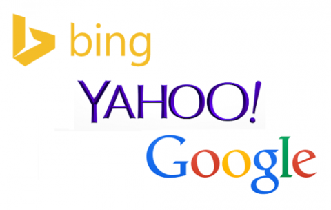 bing, yahoo, google search engines