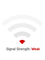 wifi image, signal strength: weak