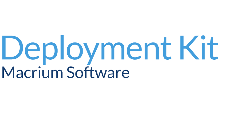 macrium deployment kit