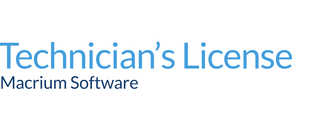 macrium technician's license